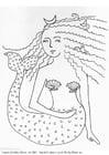 Malvorlage  Seejungfrau