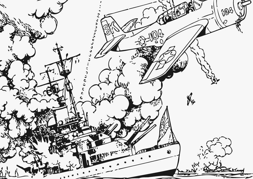 Malvorlage Seekrieg | Ausmalbild 12759.