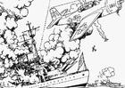 Malvorlage  Seeschlacht