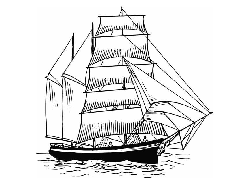 Segelboot zeichnung  Malvorlage Segelboot | Ausmalbild 13308.