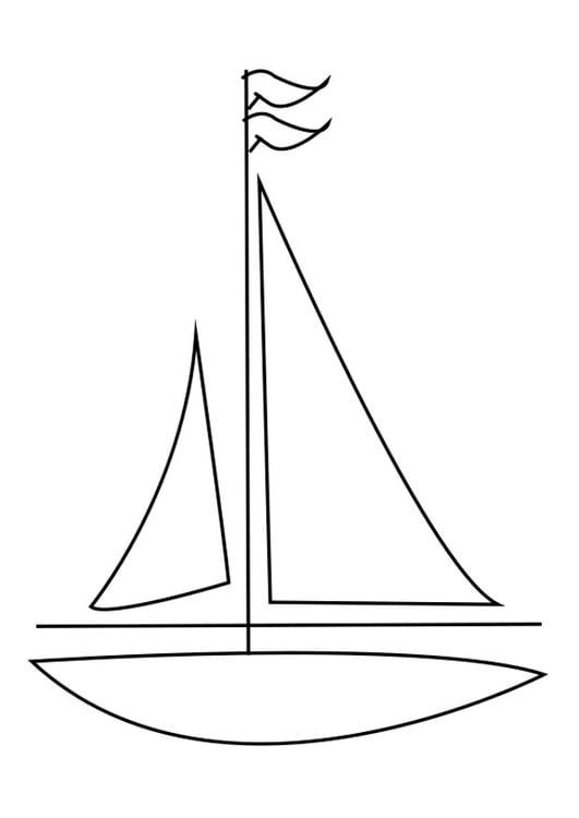 malvorlage segelboot  kostenlose ausmalbilder zum
