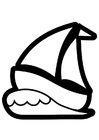Malvorlage  Segelboot