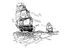 Malvorlage  Segelboote