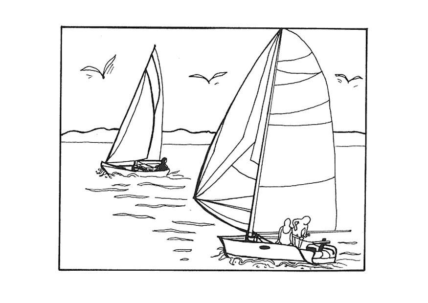 malvorlage segeln  kostenlose ausmalbilder zum ausdrucken