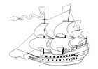 Malvorlage  Segelschiff 17. Jahrhundert