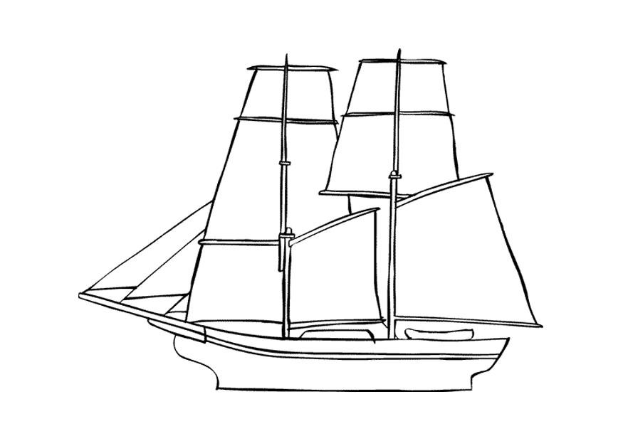 malvorlage segelschiff  ausmalbild 9675