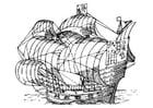 Malvorlage  Segelschiff