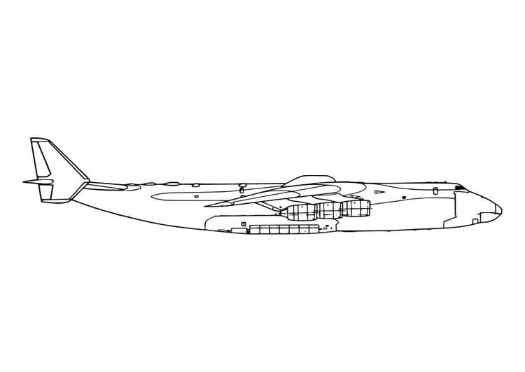 malvorlage seitenansicht flugzeug  ausmalbild 19052
