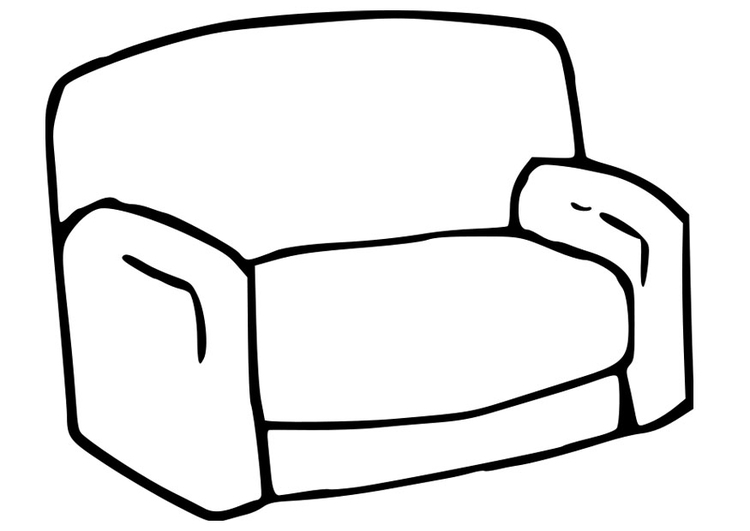Sessel gezeichnet  Malvorlage Sessel | Ausmalbild 22781.