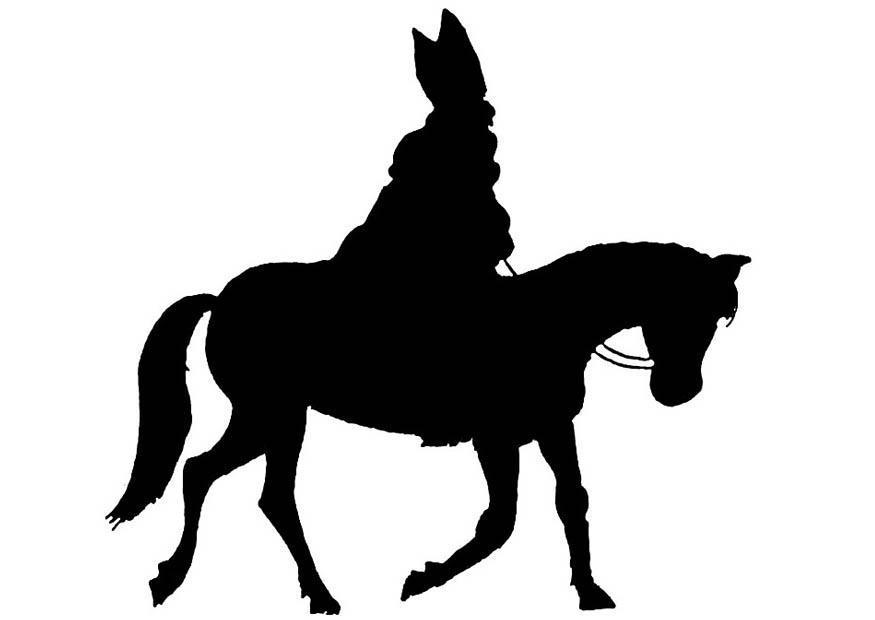 malvorlage silhouette sankt nikolaus  kostenlose