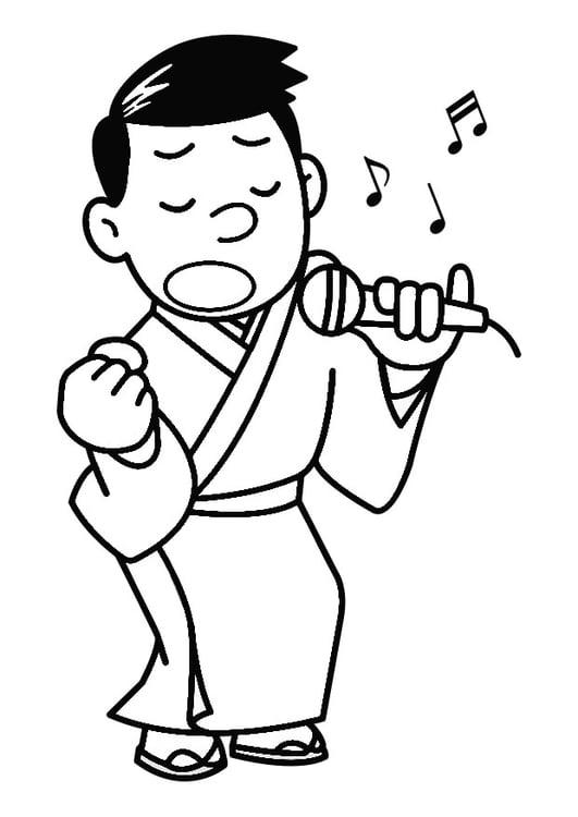 Malvorlage Singen Karaoke Ausmalbild 30274 Images