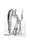 Malvorlage  Sioux Indianer