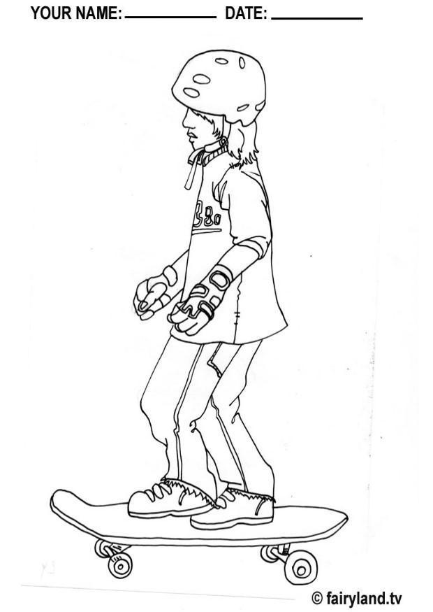 malvorlage skateboarden junge  kostenlose ausmalbilder