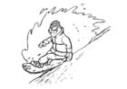 Malvorlage  Snowboarden