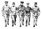 Malvorlage  Soldaten aus dem 1. Weltkrieg