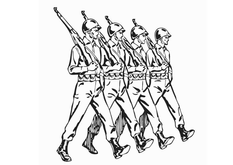 Malvorlage Soldaten Kostenlose Ausmalbilder Zum Ausdrucken