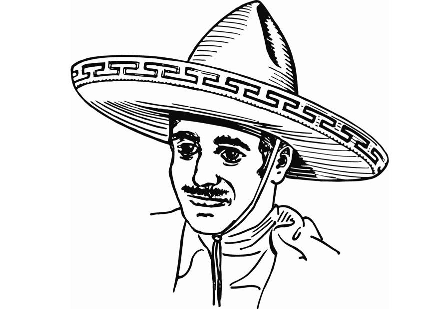 free sombrero coloring pages - photo#33