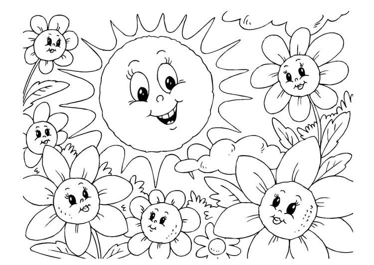 Malvorlage Sommer Ausmalbild 22600 Images