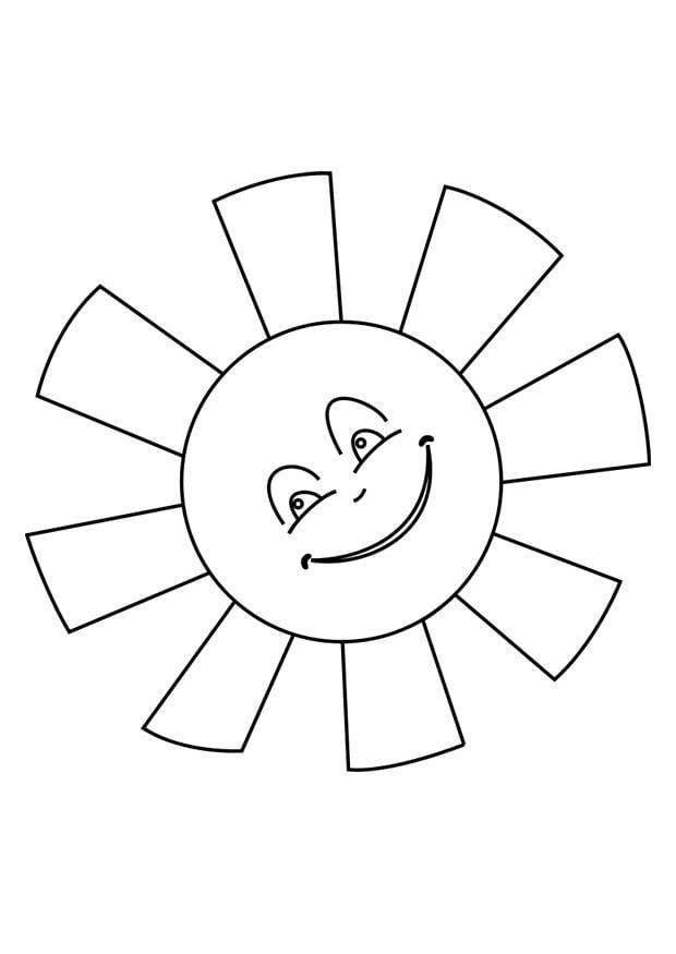Sonne malvorlage  Malvorlage Sonne   Ausmalbild 25620.
