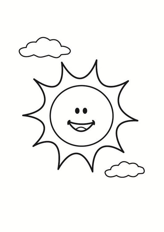 malvorlage sommer sonne | Coloring and Malvorlagan