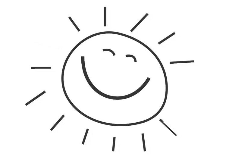 Sonne malvorlage  Malvorlage Sonne | Ausmalbild 28471.