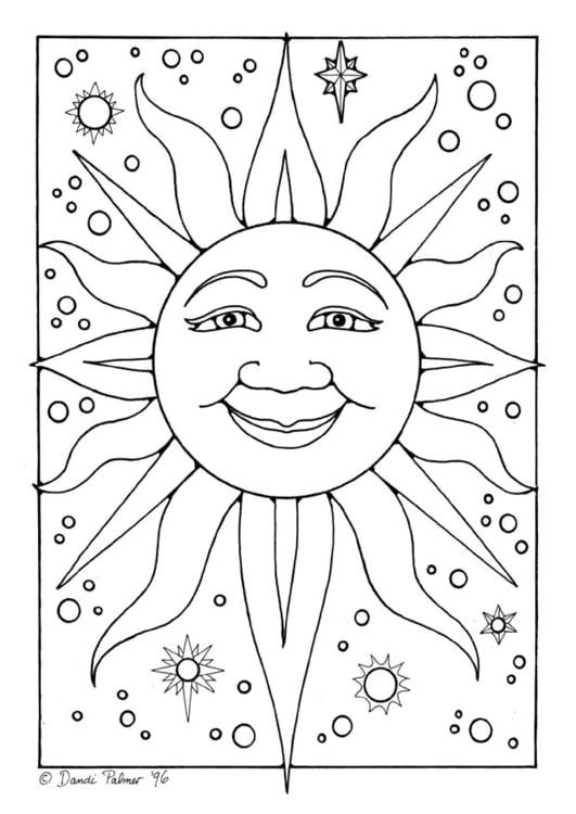 Malvorlage Sonne | Ausmalbild 9218.