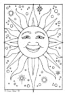 Malvorlage  Sonne