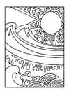 Malvorlage  Sonne und Meer