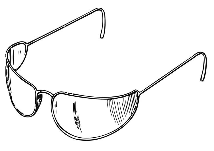 Malvorlage Sonnenbrille Ausmalbild 19416