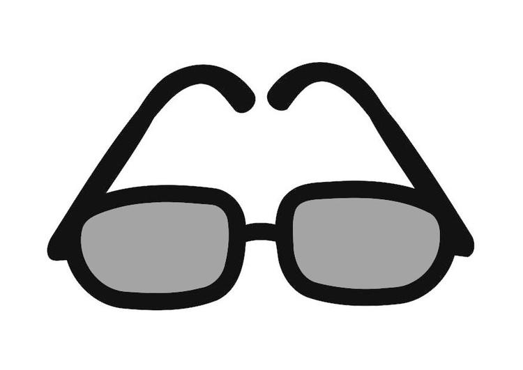 Malvorlage Sonnenbrille Ausmalbild 19905 Images