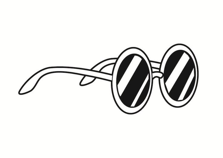 Malvorlage Sonnenbrille | Ausmalbild 23371.