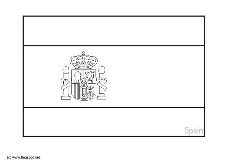 Malvorlage Spanien 2 Ausmalbild 6385
