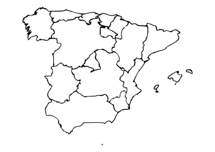 Malvorlage Spanien | Ausmalbild 10485.
