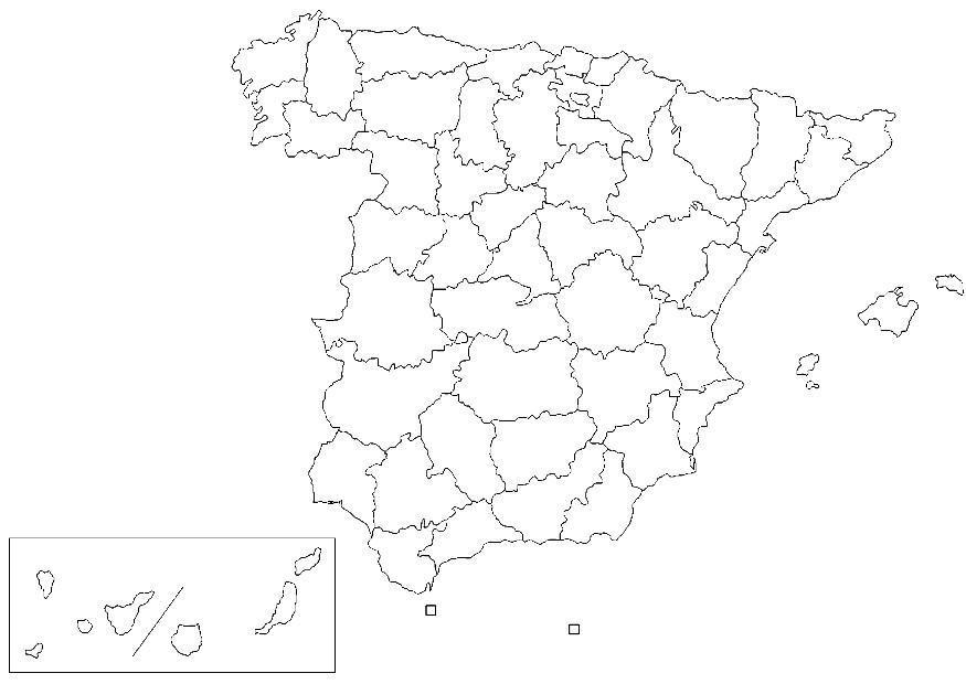 Malvorlage Spanien - Provinzen   Ausmalbild 8323.