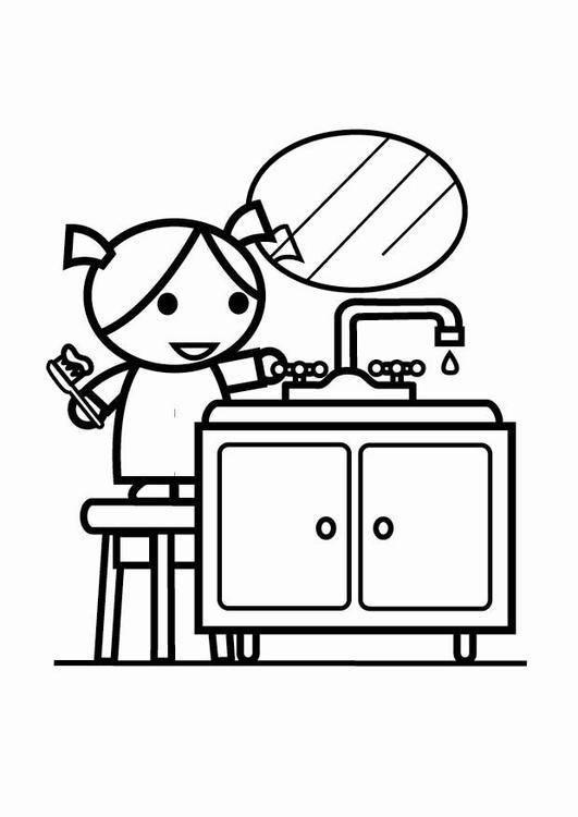 malvorlage sparsam mit wasser umgehen kran zudrehen