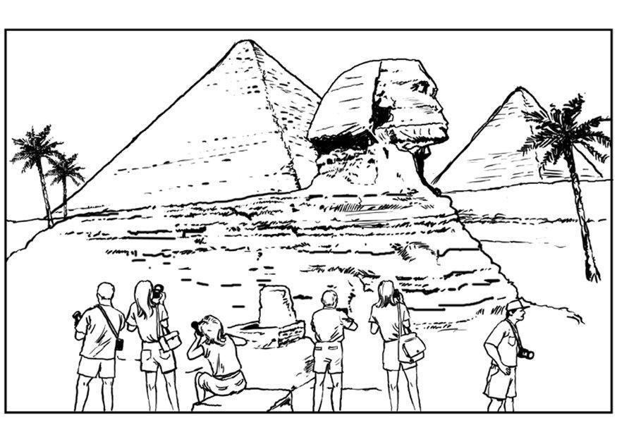 ausmalbilder ägypten pyramiden  ausmalbilder coloring pages