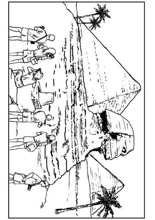Malvorlage Sphinx Und Pyramiden Ausmalbild 7523