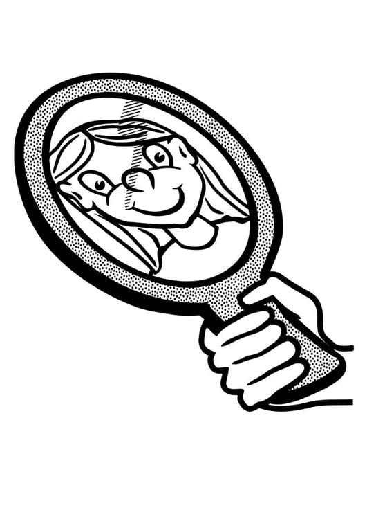 malvorlage spiegel kostenlose ausmalbilder zum ausdrucken