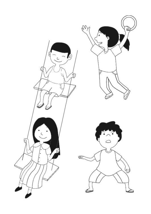 Malvorlage Spielende Kinder Ausmalbild 29659