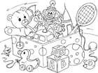 Malvorlage  Spielzeug