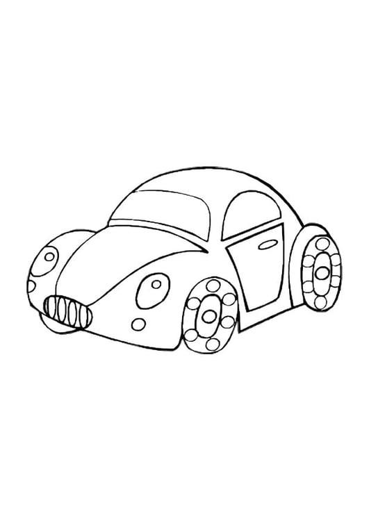 Malvorlage Spielzeugauto | Ausmalbild 10588.