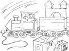Malvorlage  Spielzeugeisenbahn
