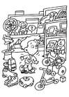 Malvorlage  Spielzeuggeschäft