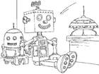Malvorlage  Spielzeugroboter