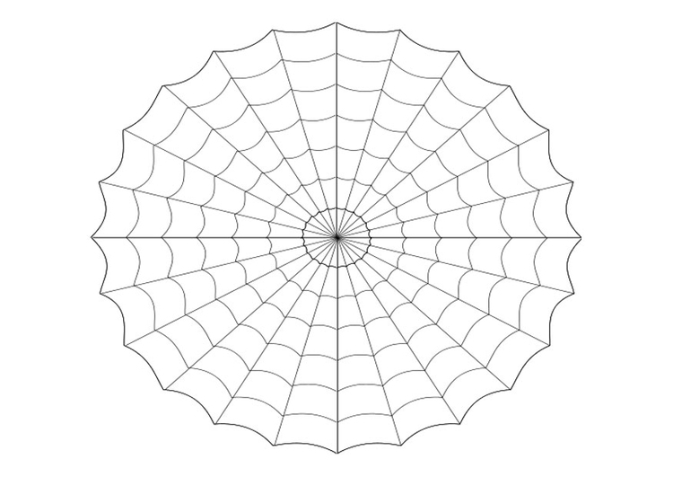 Malvorlage Spinnennetz | Ausmalbild 22985.