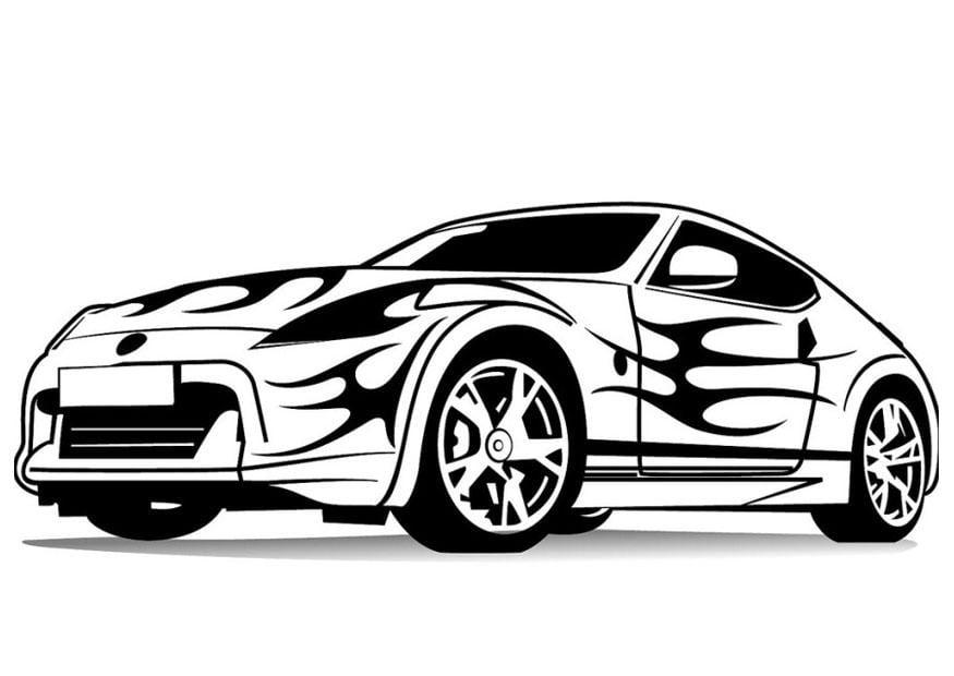 Malvorlage Sportauto Ausmalbild 24734 Images