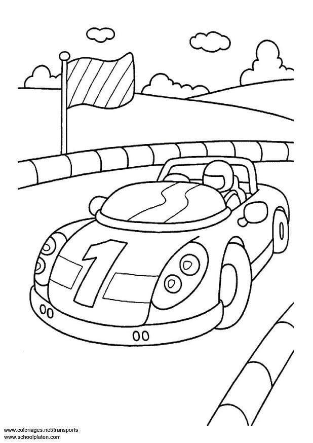 Malvorlage Sportwagen | Ausmalbild 3094.