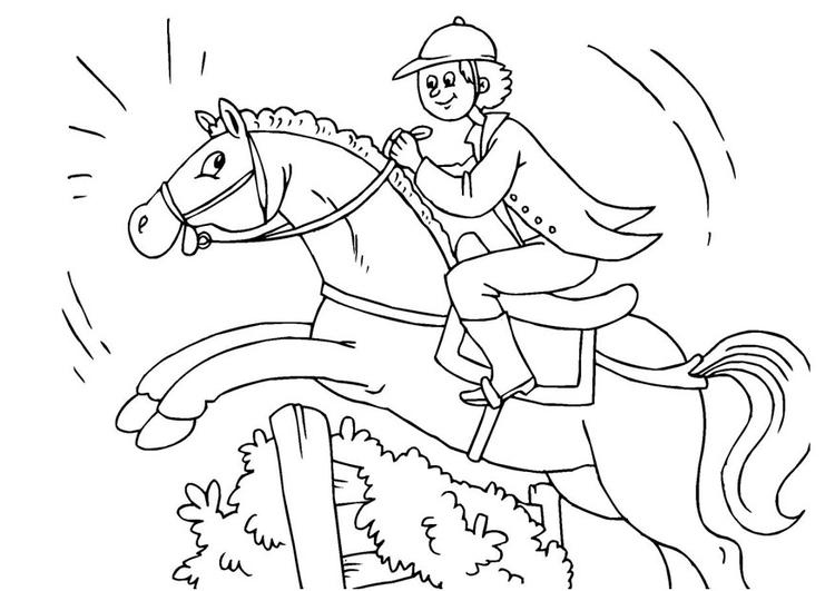 ausmalbilder springende pferde | kinder ausmalbilder
