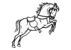 Malvorlage  springendes Pferd