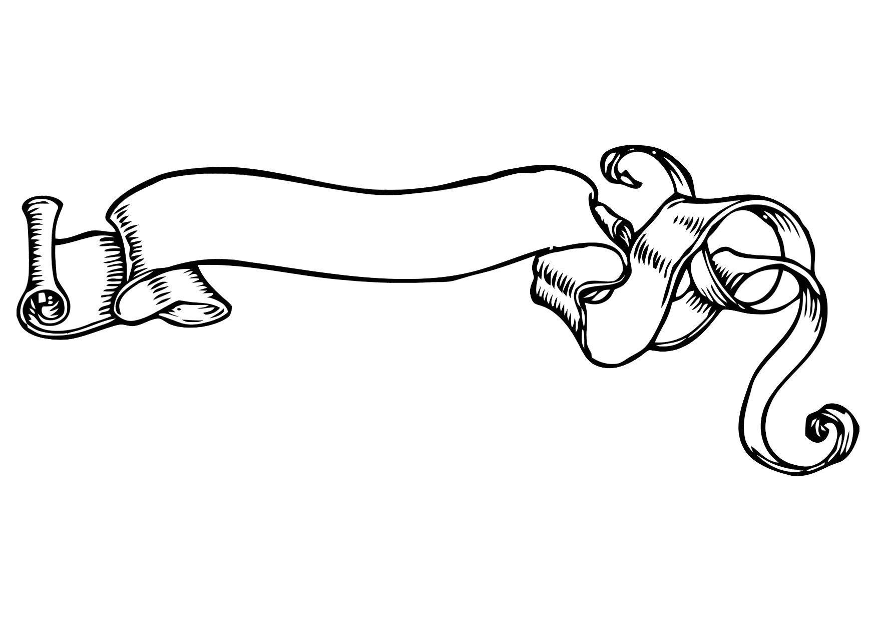 Malvorlage spruchband ausmalbild